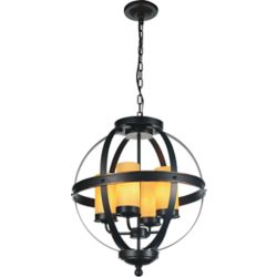 CWI Lighting Irene 20 inch 4 Light Chandelier with Autumn Bronze Finish