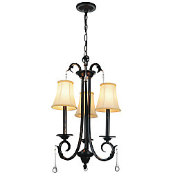 CWI Lighting Marilyn 17 inch 3 Light Chandelier with Espresso Finish