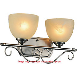 Selena 17 inch 2 Light Wall Sconce with Chrome Finish