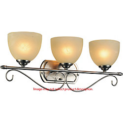Selena 25 inch 3 Light Wall Sconce with Chrome Finish