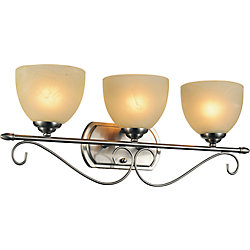 Selena 25 inch 3 Light Wall Sconce with Satin Nickel Finish
