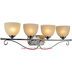 Selena 31 inch 4 Light Wall Sconce with Chrome Finish