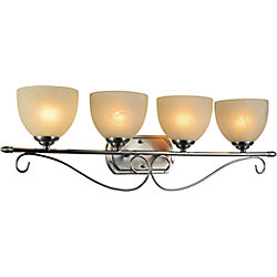 Selena 31 inch 4 Light Wall Sconce with Satin Nickel Finish