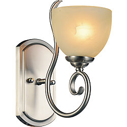 CWI Lighting Selena 6 inch 1 Light Wall Sconce with Satin Nickel Finish