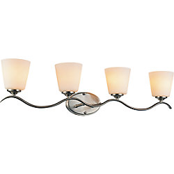 CWI Lighting Margarita 32 inch 4 Light Wall Sconce with Satin Nickel Finish