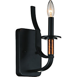 Scarlet 5 inch 1 Light Wall Sconce with Black Finish