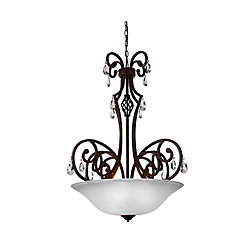 Shakira 30 inch 5 Light Chandelier with Dark Bronze Finish