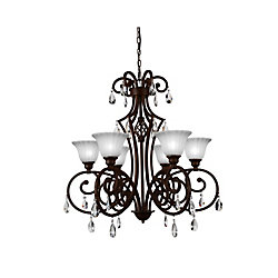 Shakira 30 inch 6 Light Chandelier with Dark Bronze Finish