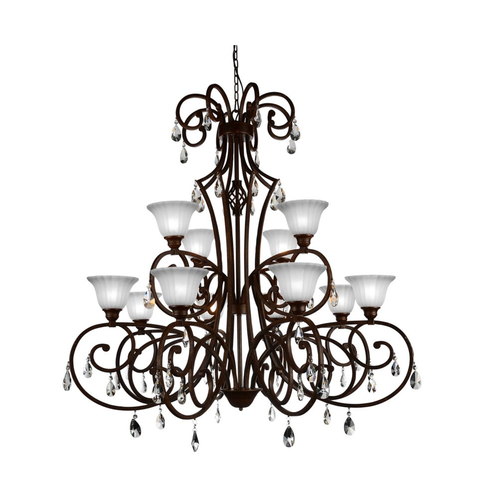 CWI Lighting Shakira 46 inch 12 Light Chandelier with Dark Bronze Finish