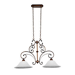 CWI Lighting Victorian 39 inch 2 Light Chandelier with Antique Gold Finish