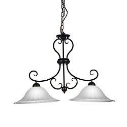 CWI Lighting Dulce 35 inch 2 Light Chandelier with Chocolate Finish