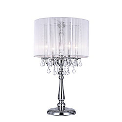 Sheer 20 inch 4 Light Table Lamp with Chrome Finish