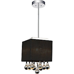 CWI Lighting Water Drop 6 inch 1 Light Pendant with Chrome Finish