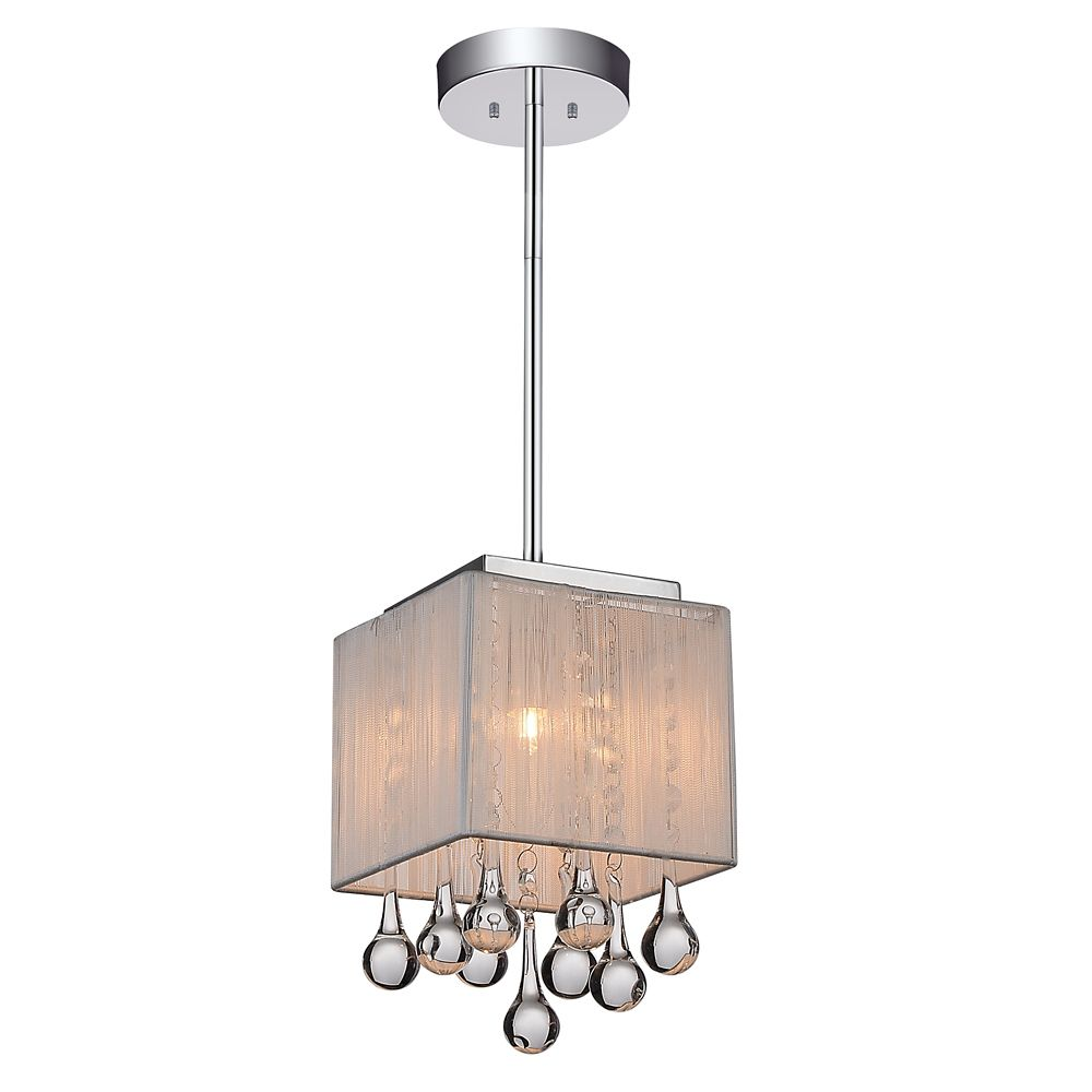 CWI Lighting Water Drop 6 inch 1 Light Mini Pendant with Chrome Finish