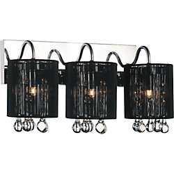 CWI Lighting Water Drop 18-inch Three Light Wall Sconce with Chrome Finish