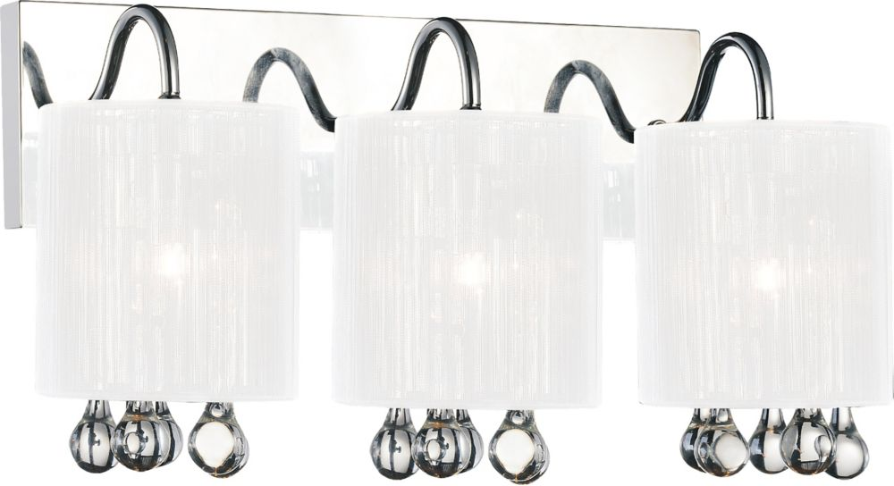 CWI Lighting Water Drop 18 inch Three Light Wall Sconce with Chrome Finish