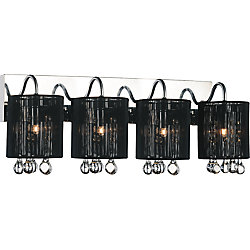CWI Lighting Water Drop 24-inch 4 Light Wall Sconce with Chrome Finish