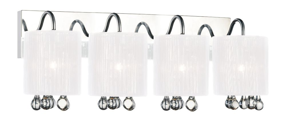 CWI Lighting Water Drop 24 inch 4 Light Wall Sconce with Chrome Finish