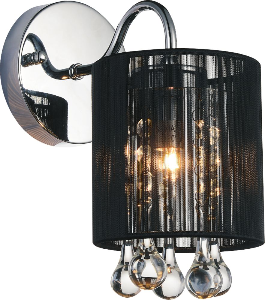 CWI Lighting Water Drop 5 inch Single Light Wall Sconce with Chrome Finish