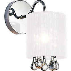 CWI Lighting Water Drop 5 inch 1 Light Wall Sconce with Chrome Finish