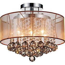 Radiant 16-inch 6 Light Flush Mount with Chrome Finish