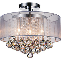 Radiant 16 inch Six Light Flush Mount with Chrome Finish