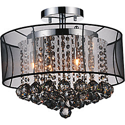 Radiant 16 inches 6 Light Flush Mount with Chrome Finish