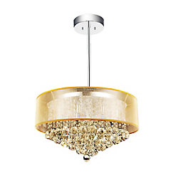 Radiant 24 inch 12 Light Chandelier with Chrome Finish