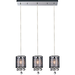 Radiant 24 inch 3 Light Chandelier with Chrome Finish