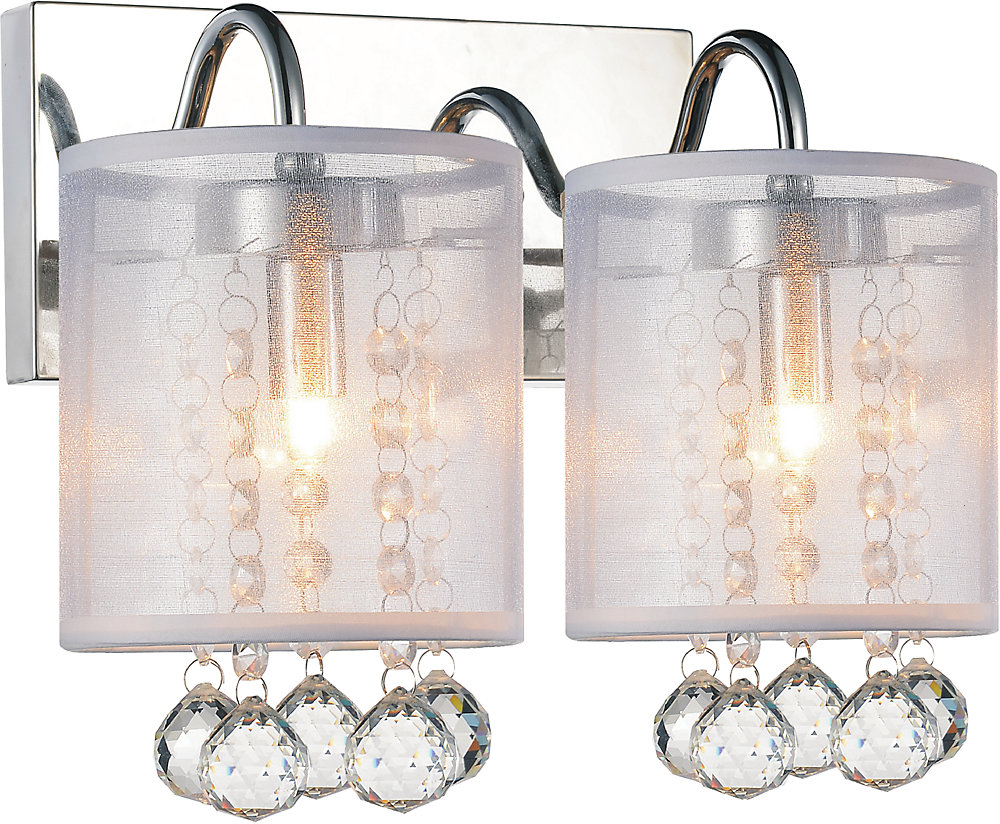 the latest c6d65 d8826 Radiant 12 inch Two Light Wall Sconce with Chrome Finish