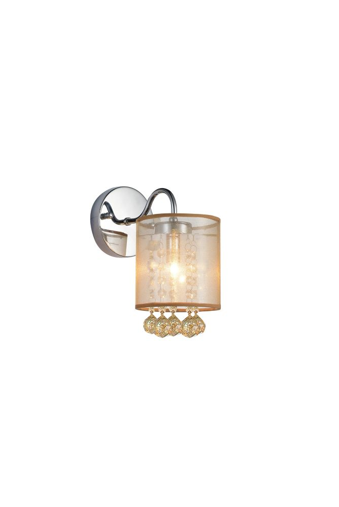 CWI Lighting Radiant 5 inch Single Light Wall Sconce with Chrome Finish