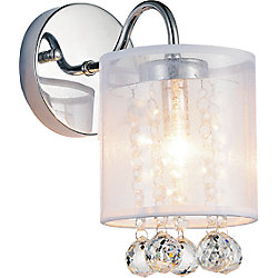 CWI Lighting Radiant 5-inch 1 Light Wall Sconce with Chrome Finish