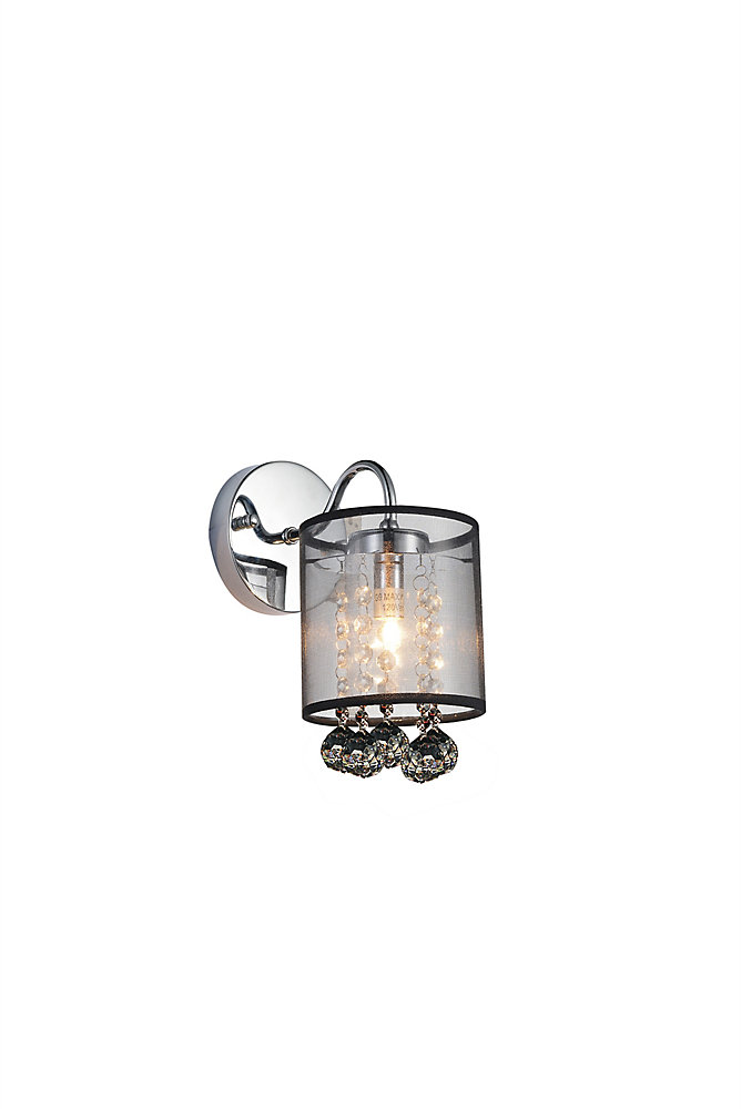Radiant 5 inch 1 Light Wall Sconce with Chrome Finish