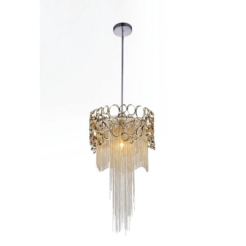 Victoria 10 inch 1 Light Mini Pendant with Chrome Finish