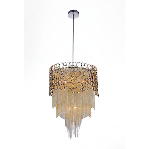 Victoria 17 inch 4 Light Chandelier with Chrome Finish
