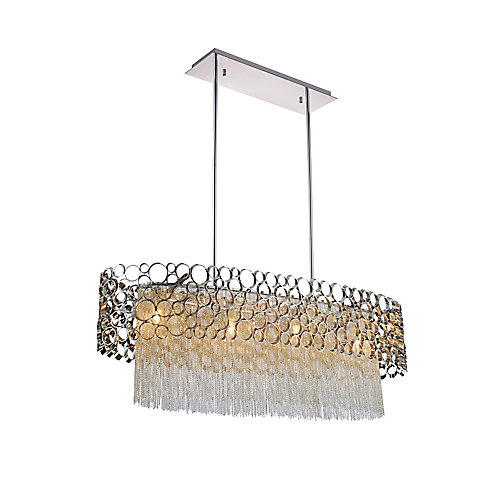 Victoria 32 inch 4 Light Chandelier with Chrome Finish