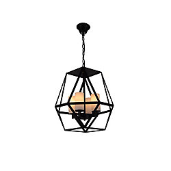 Trenton 17 inch 4 Light Chandelier with Black Finish