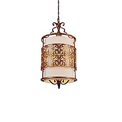 Nicole 18 inch 3 Light Chandelier with Brushed Chocolate Finish