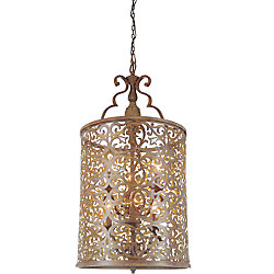 Nicole 18 inch 6 Light Chandelier with Brushed Chocolate Finish