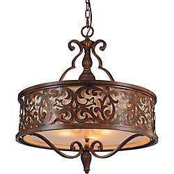 Nicole 21 inch 5 Light Chandelier with Brushed Chocolate Finish