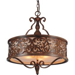 CWI Lighting Nicole 21 inch 5 Light Chandelier with Brushed Chocolate Finish
