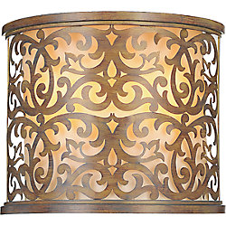 Nicole 6 inch 2 Light Wall Sconce with Brushed Chocolate Finish