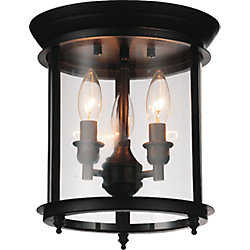 Desire 10 inch 3 Light Flush Mount with Oil Rubbed Bronze Finish
