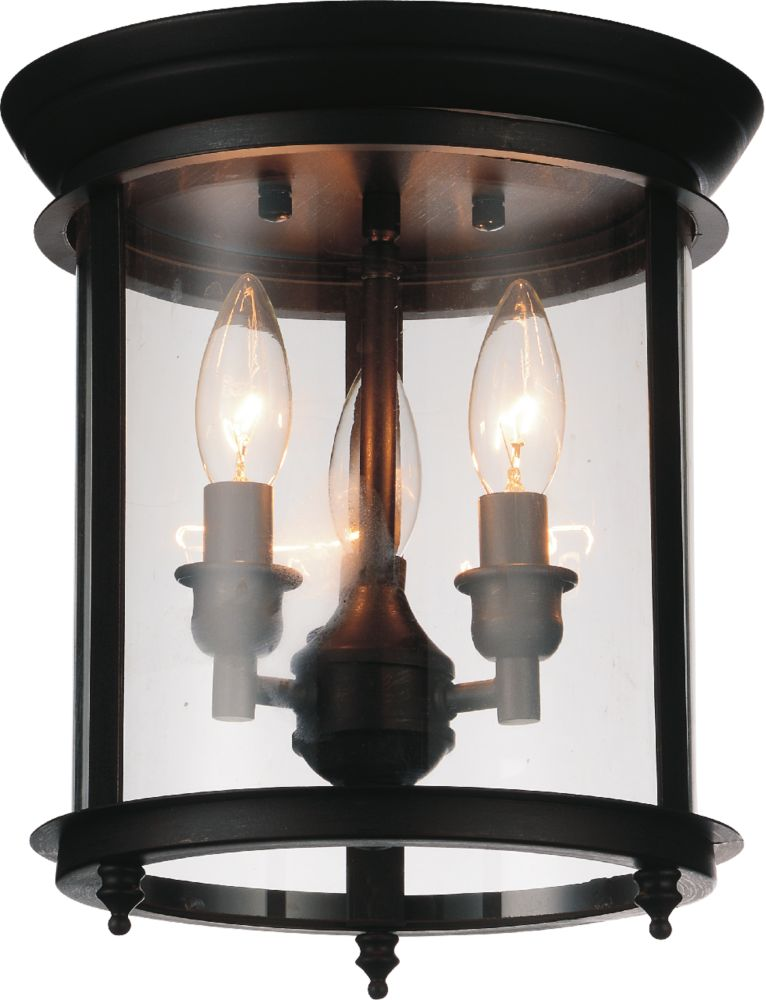 CWI Lighting Desire 10 inch 3 Light Flush Mount with Oil Rubbed Bronze Finish