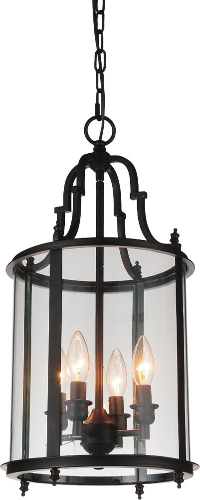 CWI Lighting Desire 11 inch 4 Light Mini Pendant with Oil Rubbed Bronze Finish