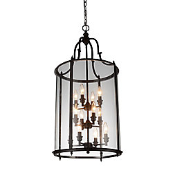 Desire 17 inch 12 Light Chandelier with Oil Rubbed Bronze Finish