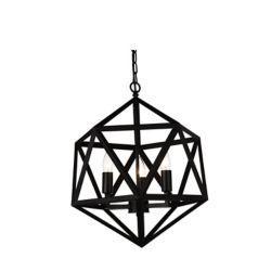 CWI Lighting Amazon 17-inch 3-Light Chandelier in Black