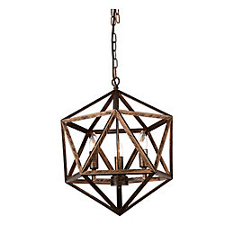 Amazon 17-inch 3-Light Antique Forged Copper Chandelier