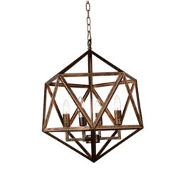 CWI Lighting Amazon 20 inch 4 Light Chandelier with Antique forged copper Finish