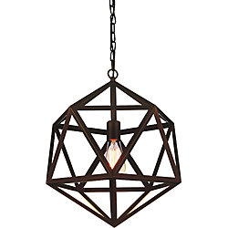 CWI Lighting Dia 20 inch 1 Light Chandelier with Antique Copper Finish